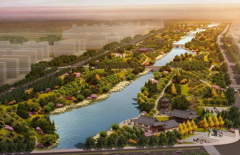 阜阳七渔河风景带